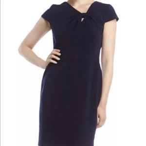 Tahari Arthur S. Levine Asymmetrical Career Dress